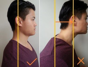 forward head posture and rounded shoulders