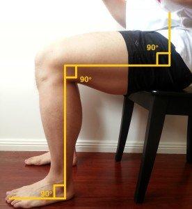 Ideal leg position