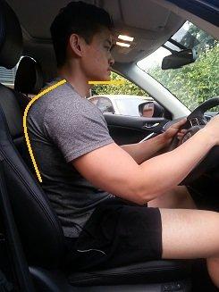 poor driving posture