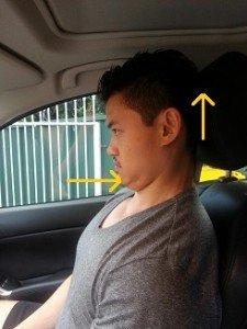 chin tuck in car