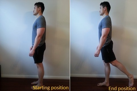 hip extension in standing