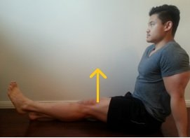long sit hip flexion for sway back posture