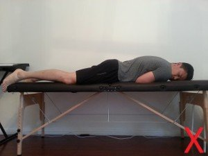 Sway back posture sleeping position