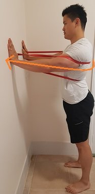 resistance band exercises for scapular winging