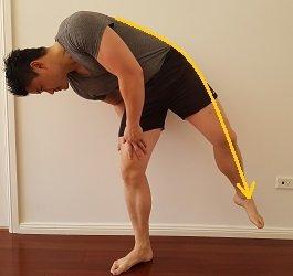 lower quadratus lumborum stretch