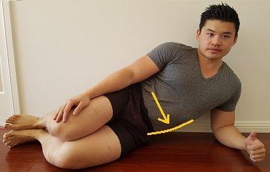 Side lie QL stretch