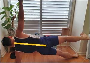 side plank for lateral pelvic tilt