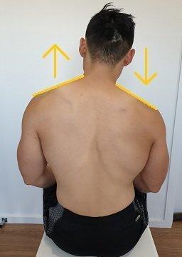 uneven shoulders