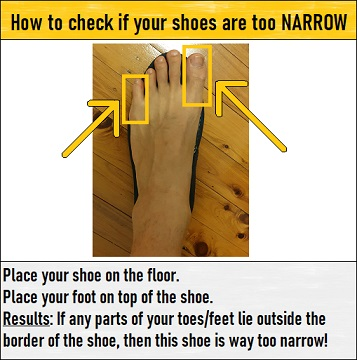 narrow shoe test