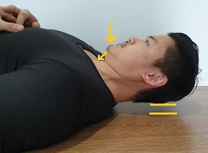 advanced deep neck flexor exercise for Dowager's hump