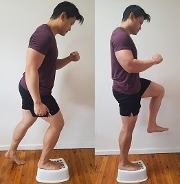 step up exercise for clicking knee