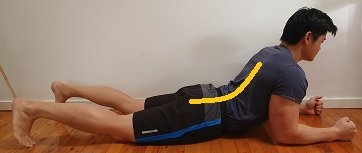 lumbar extension prone static hold