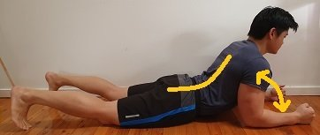 repeated lumbar extension bulged disc exercise