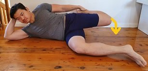 side lie tensor fasciae latae stretches