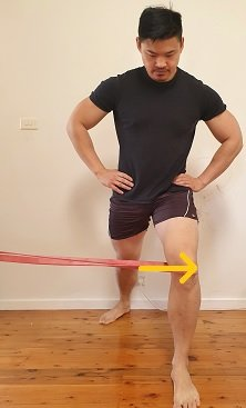 lunge with resistance band