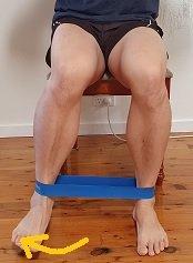 sitting hip internal rotation strengthening exercise