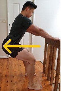 lean back squat