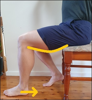 hamstring activation in sitting