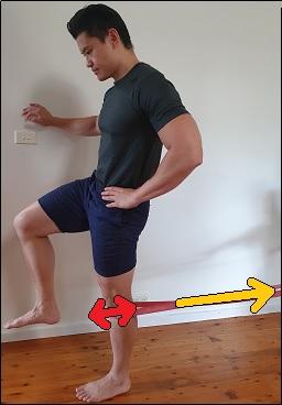 singe leg end range knee extension