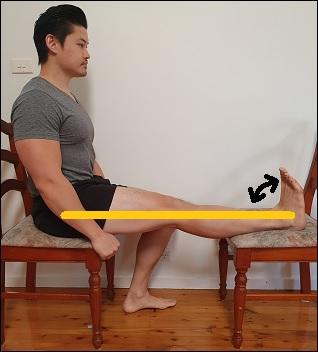 sciatic nerve glide in sitting