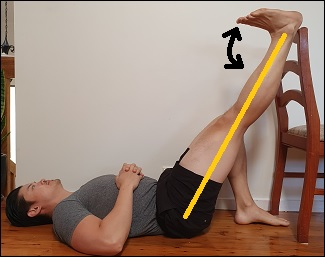 sciatic nerve glide lying down