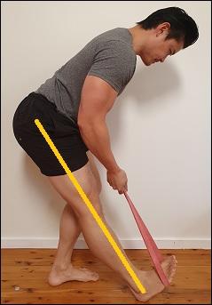 sciatic nerve stretch in standing