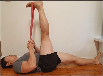 sciatic nerve stretch on floor