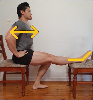 upper sciatic nerve glide in sitting